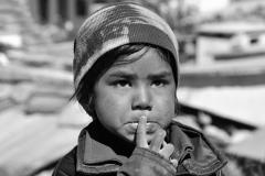Child Portrait Mana Village Himachal Pradesh India