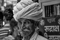 Portrai of a Rajasthan Man In Haridwar Uttarakhand India