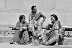 Women on Gange Ghat Varanasi Uttar Pradesh India