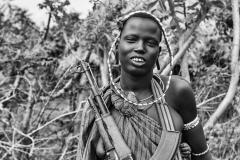 Mursi Warrior Woman Omo Valley Turmi Ethiopia