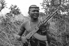 Mursi Warrior Man Omo Valley Turmi Ethiopia