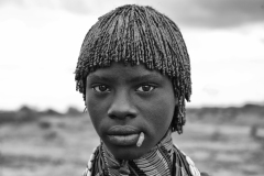 Hamer Girl Near Asile Omo Valley Turmi Ethiopia
