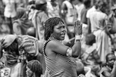 Woman Seller Scream Jinka Market Ethiopia