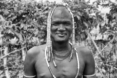 Man in an Mursi Village near Kuraz Omo Valley Ethiopia