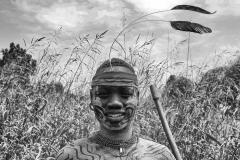 Hamer Boy  on the Road for Turmi Omo Valley Ethiopia