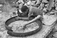 Worker Boy made Shoes from a Tire Arba Minch Ethiopia