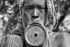 Mursi Woman With Lips Plate Omo Valley Turmi Ethiopia