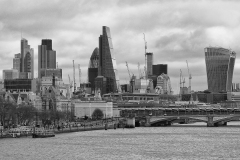 London's Skyscraper View from Tamigi River England
