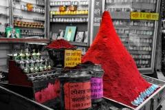 Spice and Colored Powders Shop Haridwar Uttarakhand India