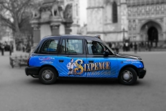 Advertising on Black Cabs London England