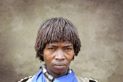 Banna Woman Portrait Key Afer Omo Valley Ethiopia