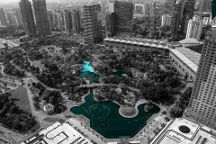KLCC Park View from Top Kuala Lumpur Malaysia