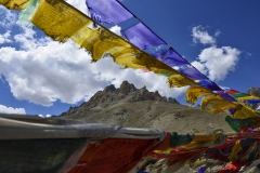 Prayer Flag on The Wind Tegar Ladakh