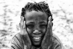 San Girl Smile Tsumkwe, Namibia