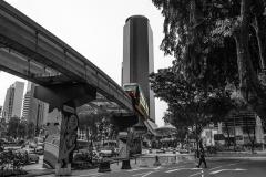 Coloured SkyTrain Kuala Lumpur Malaysia
