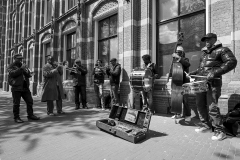 Street Musicians on King's Day Amsterdam Holland
