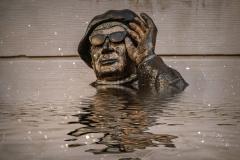 Evert Taube Statue Stoccolma Svedena