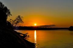 Rio Madre de Dios Sunset Amazonas Perù