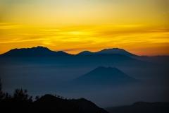 Volcan Bromo Sunrise Landscape  Indonesia