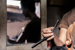 Barber's Hand Java Indonesia