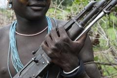 Kalashnikov Hands Omo Valley Ethiopia