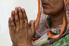 Hands in Prayer Amristar Punjab India