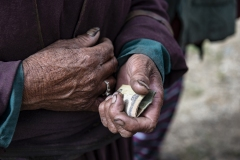 Hand and Money Ladakh India