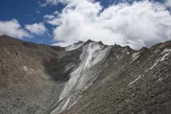 Highest Himalayan Peaks View  from Khardung La Pass Ladakh India
