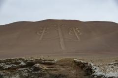 Candelabra Paracas Hieroglyph Ica Region Perù