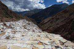 Salinas de Maras Terraces Landscape Cusco Region Perù