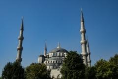 Blue Mosque Landscape Istanbul Turkey