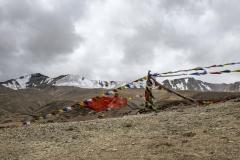 Tibetan Prayer Flags Landscape Ladakh India