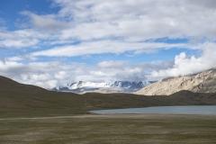 Changthang Plateau Lake Landscape Ladakh India