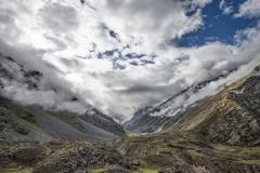 Mountains View from Wari La Pass Ladakh India