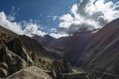 Road for Chang La Pass View Ladakh India
