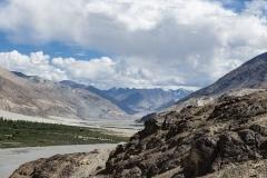 Nubra Valley with Karakorum behing Landscape Ladakh India