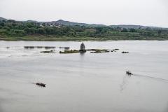 Narmada River Temple Maheshwar Madhya Pradesh India