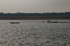 Ganges Landscape in Varanasi Uttar Pradesh India