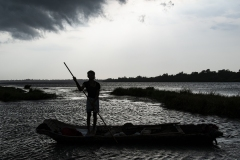 Narmada River Maheshwar Landscape Madhya Pradesh India