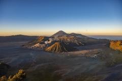 Bromo Volcanoes Sunset Landscape Java Indonesia