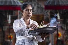 Religious Ceremony Ubud Bali Indonesia