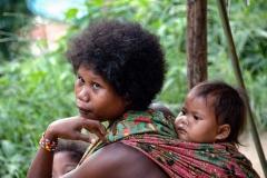 Mother and Son Orang Asli Taman Negara Malaysia