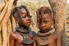 Himba Child Village near Okongwati Kaokoland Namibia