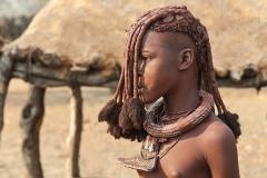 Himba Girl  Portrait Village near Okongwati Kaokoland Namibia
