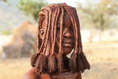 Himba Traditinal Haistyle Village near Okongwati Kaokoland Namibia