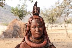 Himba Woman Portrait Village near Okongwati Kaokoland Namibia