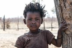 San Child Portrait Tsumkwe Otjozondjupa Region Namibia