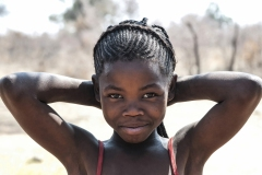 San Girl Scream Tsumkwe Otjozondjupa Region Namibia