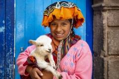 Girls Portrait Ollantaytambo Perù