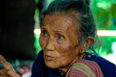 Old Woman in Pai near Chiang Rai